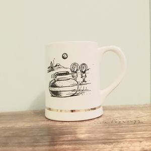 1970's Vintage Curling Capers Mug Space Cartoon